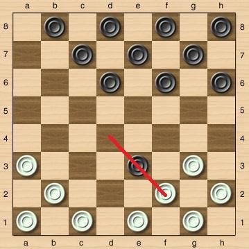 Комбинации в игре шашки
