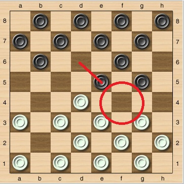 Первый ход в шашках