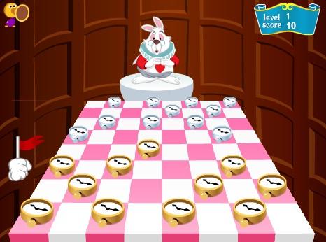 Шашки играть онлайн - Алиса в Стране Чудес